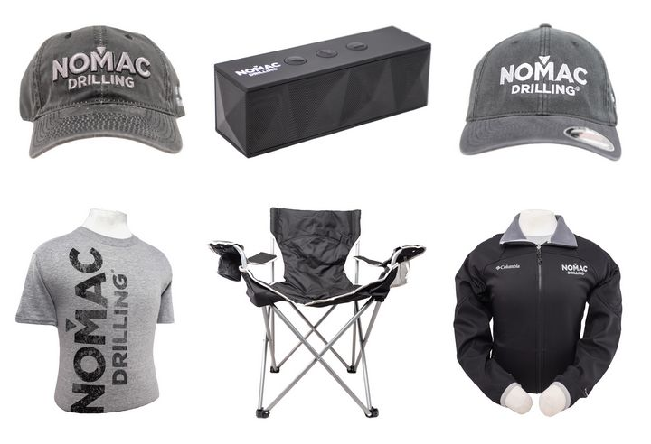Nomac Safety Rewards - Going 6 years without an incident is a big deal in the oil industry. Check out how Nomac rewarded the guys on Rig #11! Branded blue tooth speakers, camping chairs, shirts, jackets, caps...