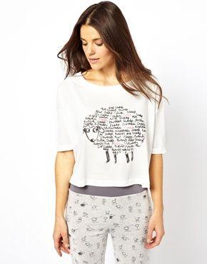 Image 1 ofASOS Dreaming Sheep Print Jersey Night Tee