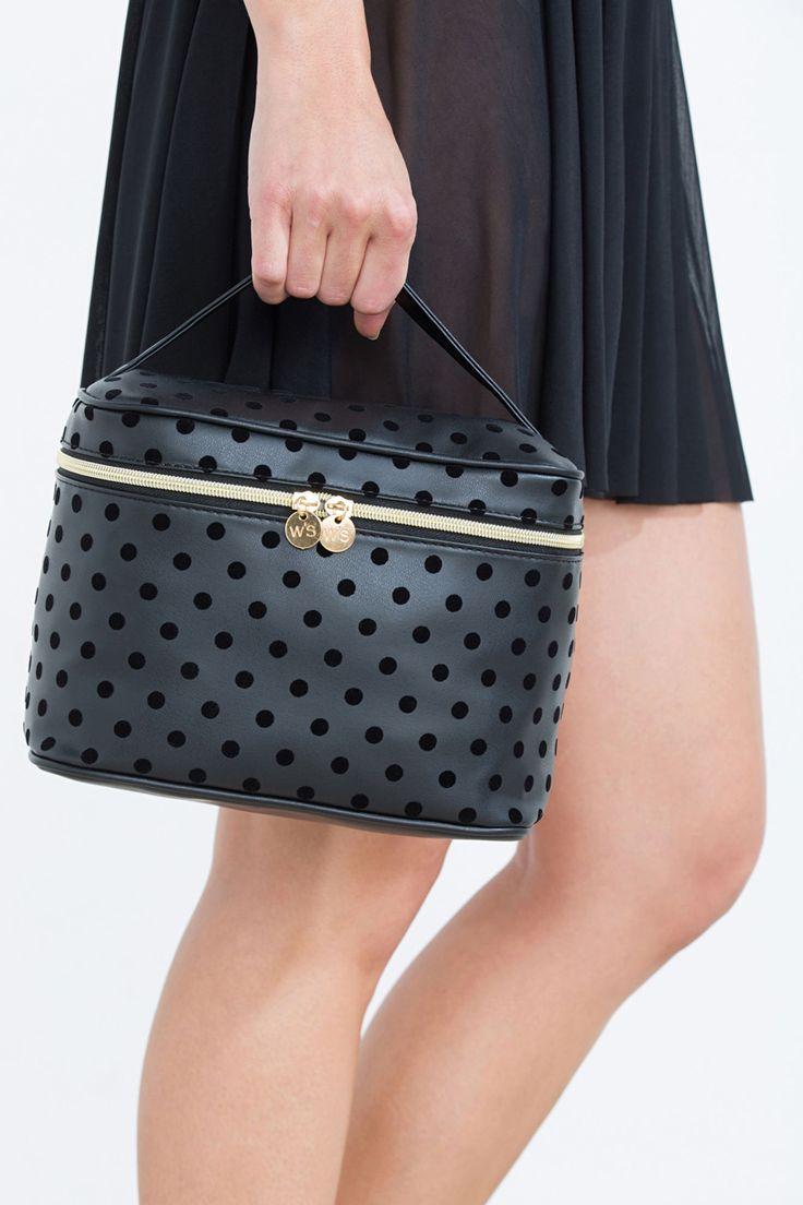Velvet polka dot vanity case   Vanity Cases   Women'secret