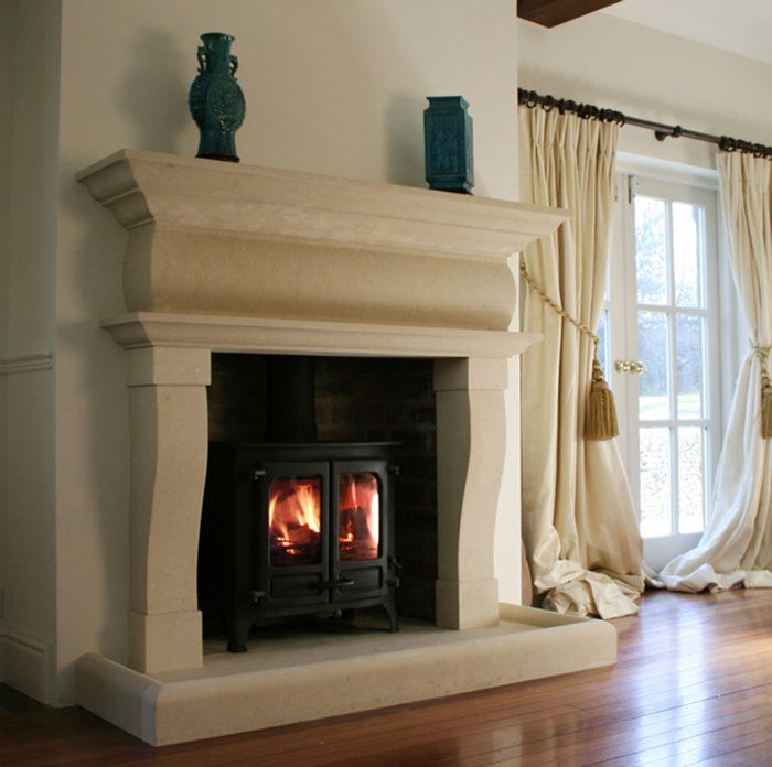Natural Stone Fireplace Surround 65 best mantels images on pinterest | stone fireplaces, mantels