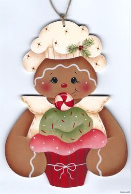 GB cupcake ornament