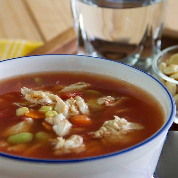 ▲Lively and flavorful, OLD BAY Maryland Crab Soup | good! just used a bag of frozen mixed vegetables, added diced potatos