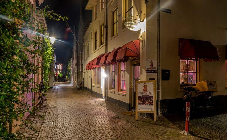Niederlande Haus Straße Straßenlaterne Nacht Den Bosch Städte