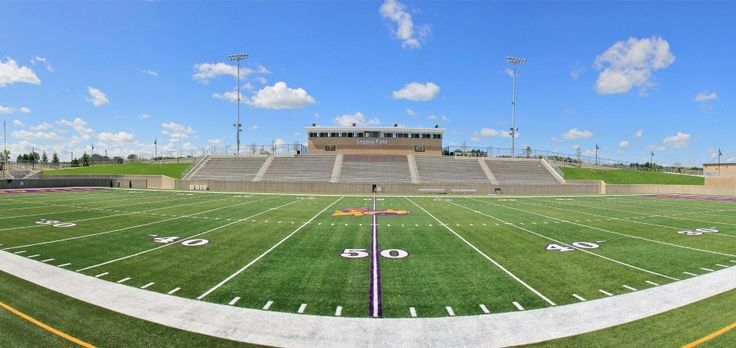 hs football stadiums | panoramic view from the 50-yard line of the visitors' bleachers ...