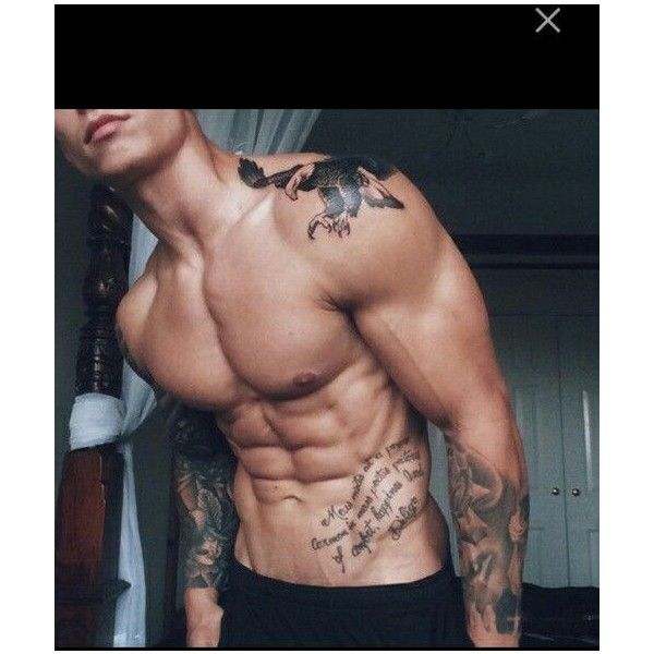 Shoulder eagle tattoo and arms and abs tattoos beautiful ❤ liked on Polyvore featuring accessories