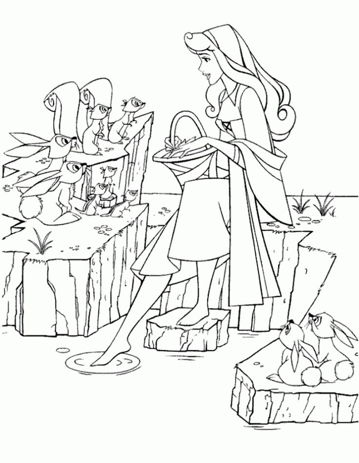 Disney Sleeping Beauty Coloring Pages