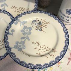 GreenGate Essteller Dinner Plate Fay White