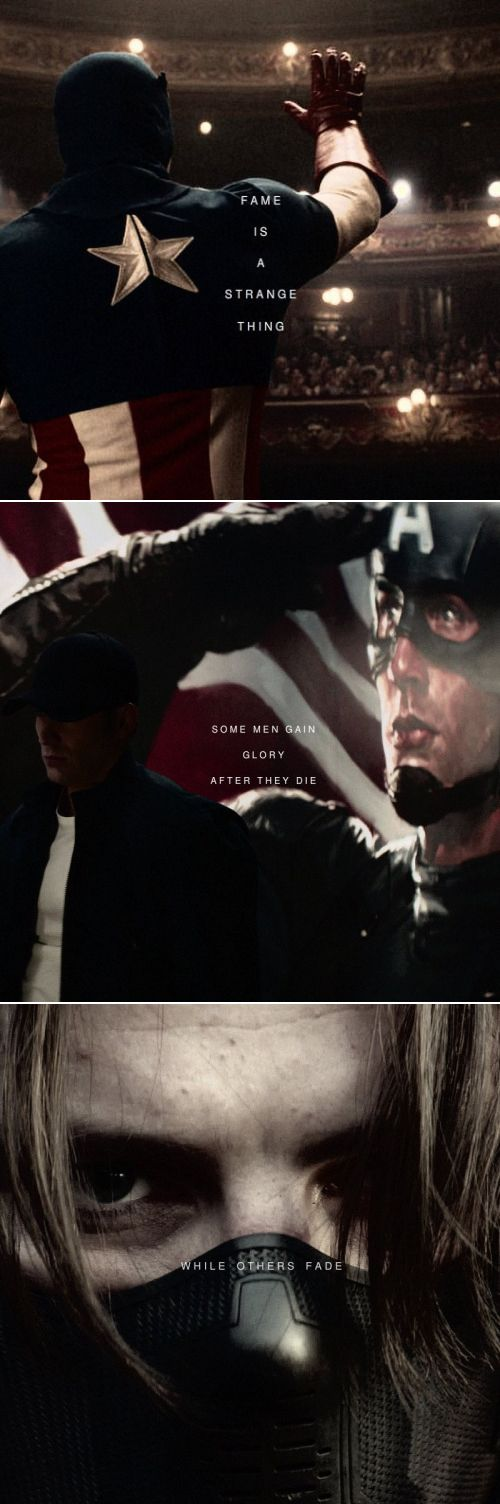 Captain America: Fame is a strange thing. Some men gain glory after they die while others fade.