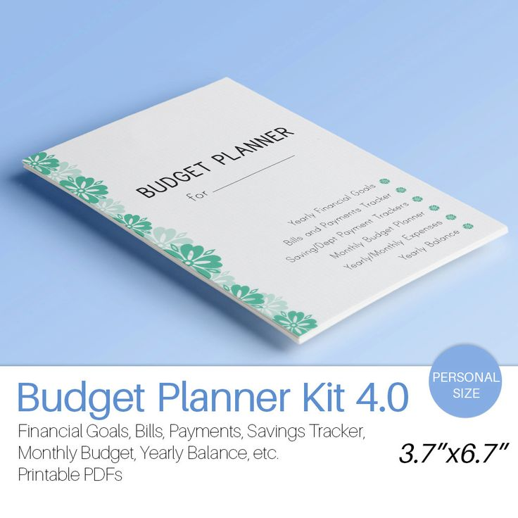 Personal Planner Insert BUDGET PLANNER Filofax Monthly Financial Binder Bills Savings Expenses Tracker printable 12 docs Instant Download by EasyLifePlanners on Etsy