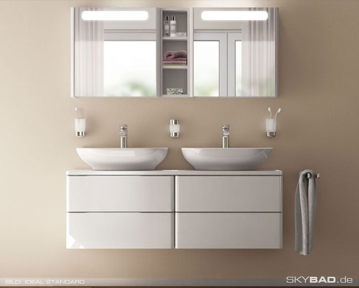 ideal standard bathroom cabinets ideal standard soft mood light mirror cabinets give your 18788