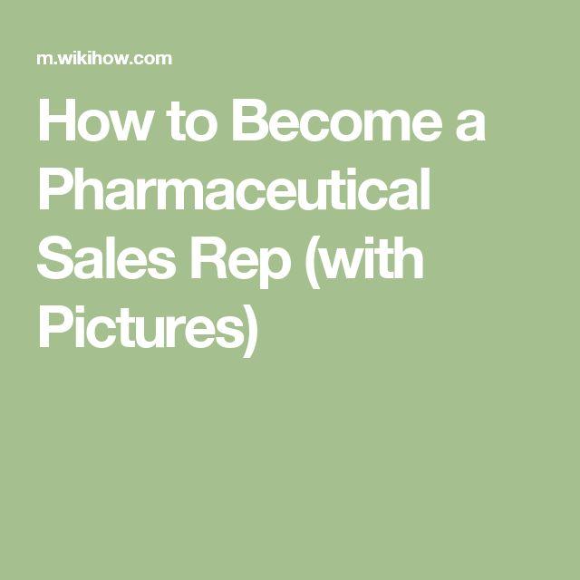 how to become a drug representative