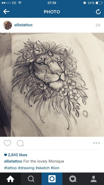ideas about Lion Thigh Tattoo on Pinterest | Feminine thigh tattoos ...