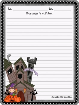 Halloween Writing Prompts And More For The Month Of October ~Perfect For Writing Workshop! {Based On Common Core Standards} ~ 7 Journal Covers With & without color background paper Reference Pages: ~October Word Bank to aide students with spelling ~Writer's checklist for students to remind them what to focus on while writing ~31 Writing Prompts about October, Halloween and Fall. ~These prompts do not have specific dates, & can be used year after year! ~31 Blank Writing Stationary