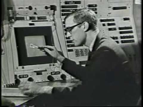 The very first electronic sketching system, in 1963, by Ivan Sutherland.