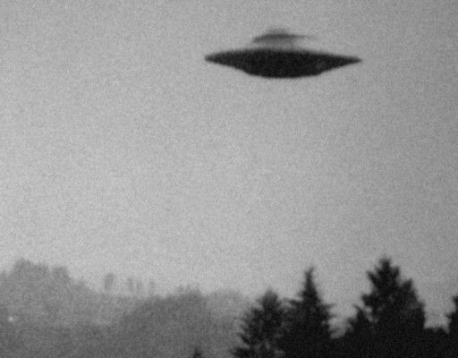 """""""I want to believe"""" - X-Files UHO Probably hubcaps, though it's hard to tell what trash it's made out of if it was spinning."""
