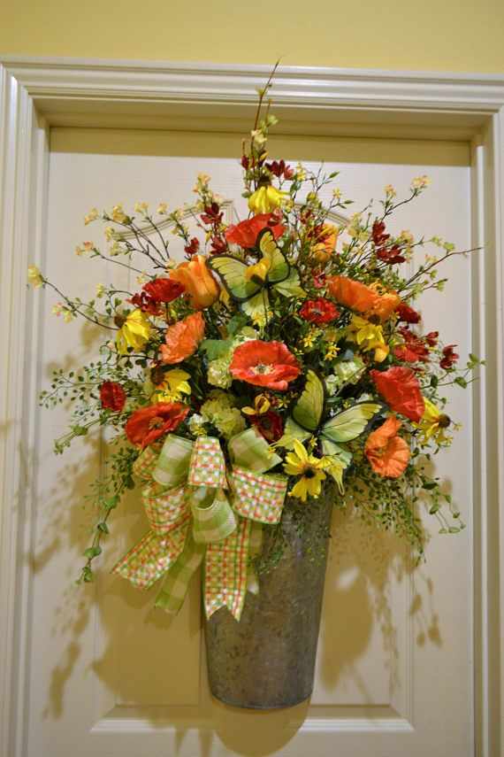 front door hangings650 best Wreaths  Arrangements 2 images on Pinterest  Summer