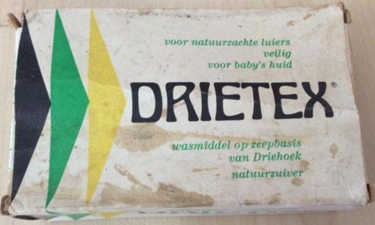 Drietex - voor natuurzachte luiers veilig voor baby's huid - wasmiddel op zeepbasis van Driehoek natuurzuiver - voorzijde van de verpakking