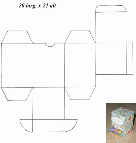 Caixas, sacolinhas, etc... com Moldes para Imprimir - Convites Digitais Simples