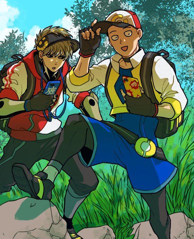 One Punch Man X Pokemon Go - Genos and Saitama | Аниме ...