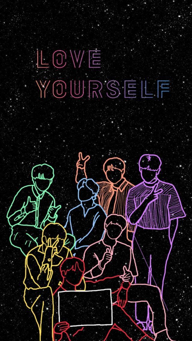 Love yourself, love BTS, love ARMY. Bts lockscreen
