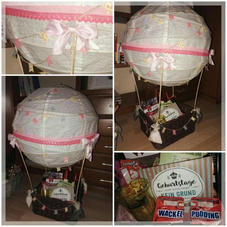 Heißluftballon, Ballon, Geschenk, Geldgeschenk, Geburtstag, Hochzeit, Wedding, Birthday