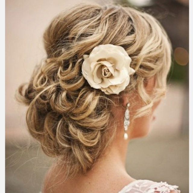 Hairstyle For Brothers Wedding: Curly Chignon For Brother's Mexican Riviera Wedding
