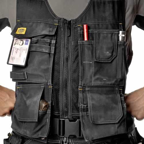 Tool vest, instead of belt.