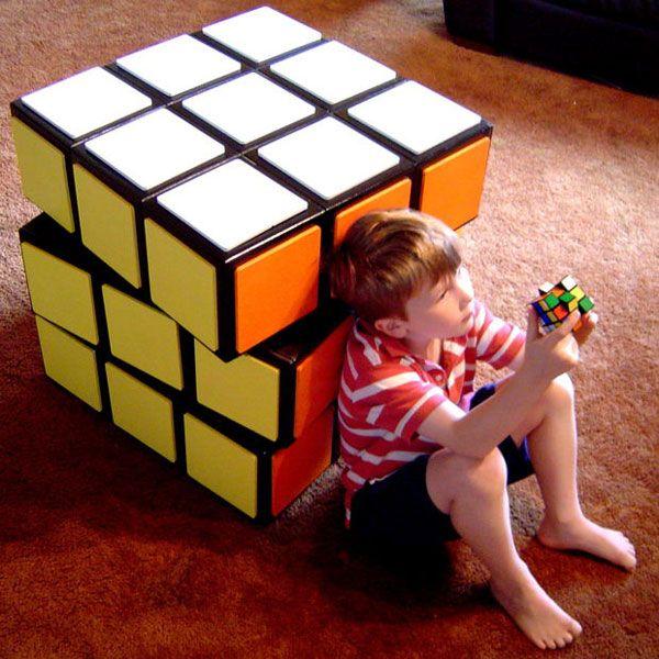 Ящик для мелочей Кубик Рубика своими руками