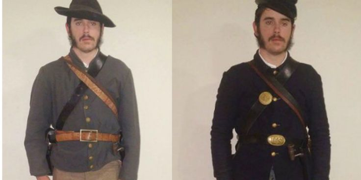 Explore the uniforms and clothing worn by both Union and Confederate soldiers during the Civil War with this interactive layering guide.