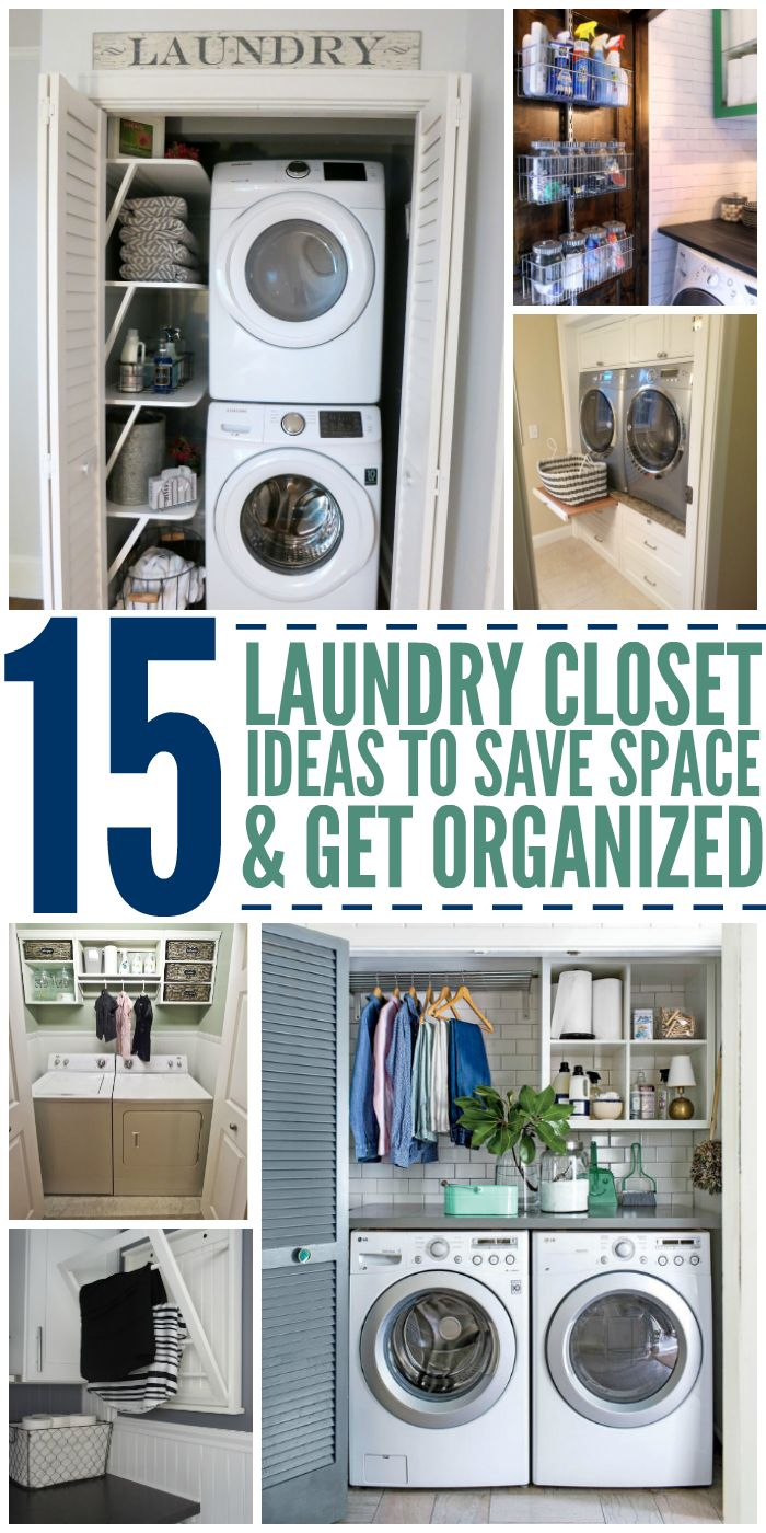 how to save space in a small bedroom 15 laundry closet ideas to save space and get organized 21269