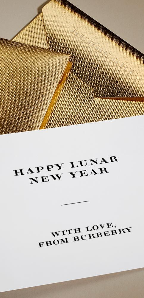 Wishing you a happy Lunar New Year with love from Burberry