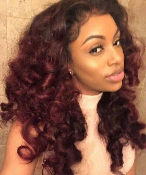 Fabulous 1000 Ideas About Curly Hair Coloring On Pinterest Ombre Curly Short Hairstyles For Black Women Fulllsitofus