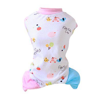 katten / honden Pyjama  / Jumpsuits Roze / Geel Hondenkleding Winter / Lente/Herfst Cartoon Modieus - EUR € 9.79