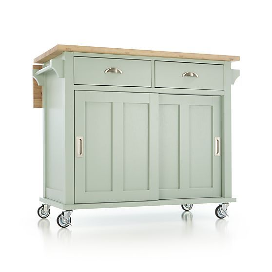 Belmont Mint Kitchen Island in Dining & Kitchen Storage | Crate and Barrel