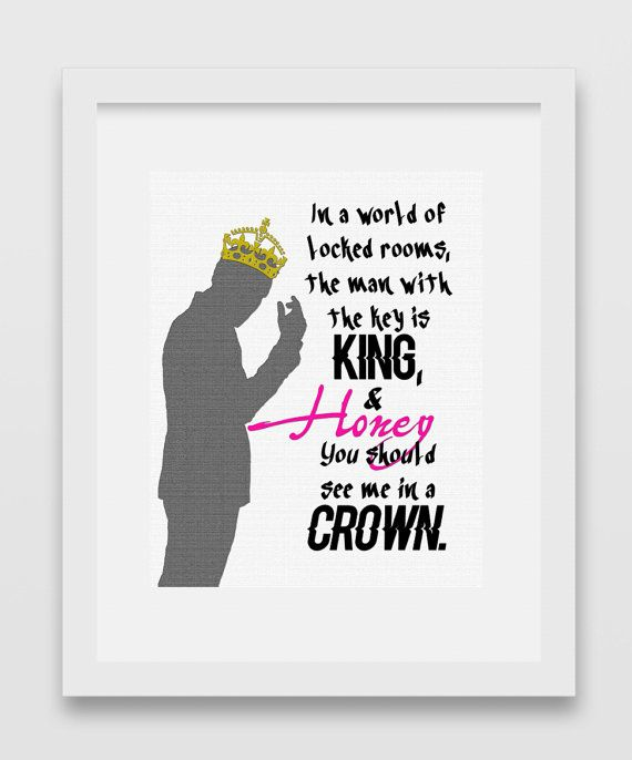 Honey You Should See Me In A Crown Moriarty Sherlock Quote Print