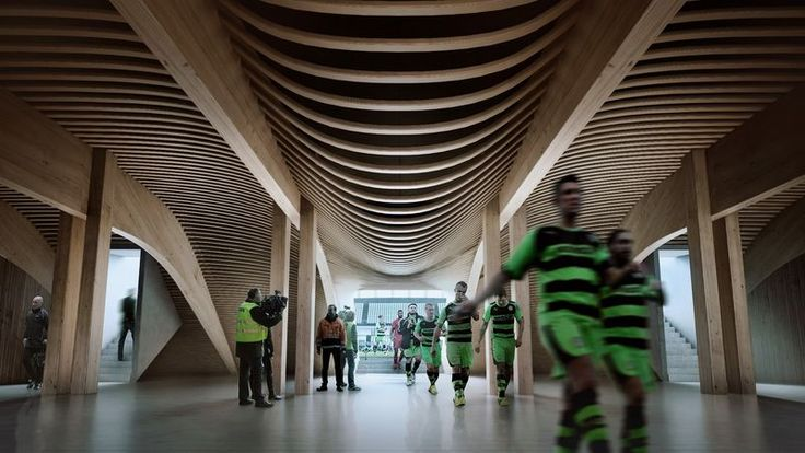 Wooden Football Stadiums : forest green rovers