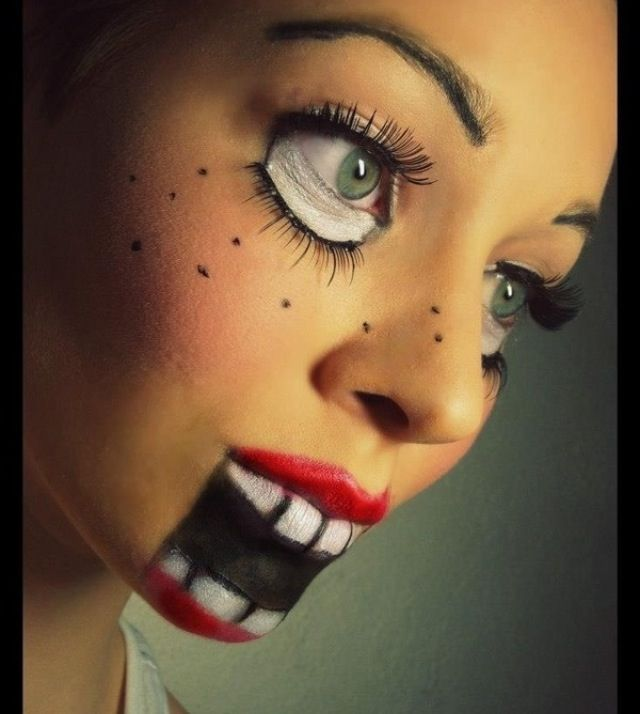 Scary doll makeup | The other holidays... | Pinterest ...