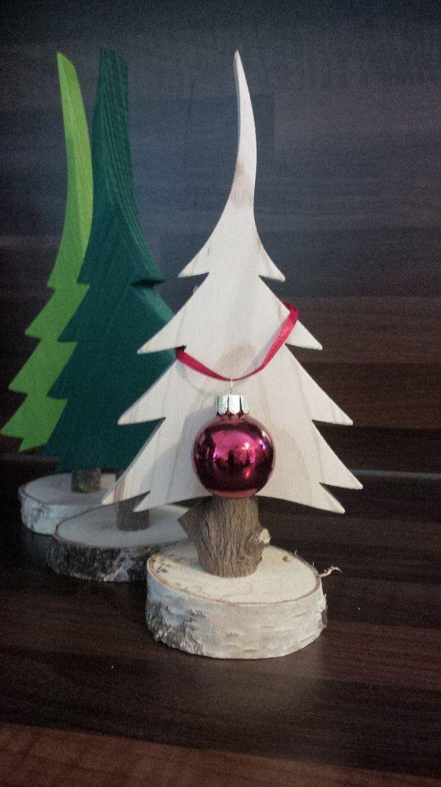 **Naturbelassener Tannenbaum aus Massivholz** moderne und natürliche Dekoration für Weihnachten, Landhausstil und Kinderzimmer – _made in Bayern_! L…