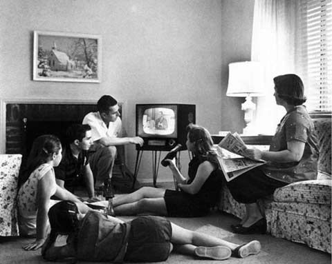 The whole family watched the same programme!