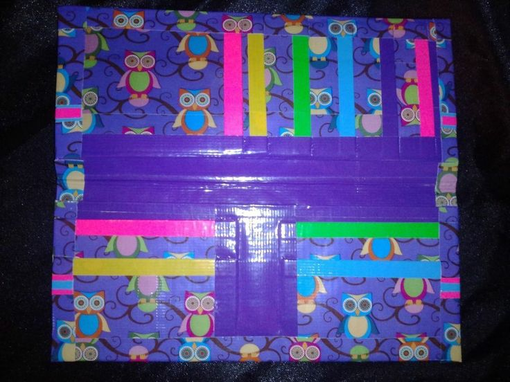 Handmade Owl Duct Tape Wallet with Bow!