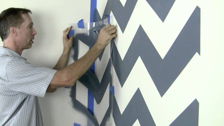 Chevron Stencil Tips and Tricks- vide which is a must watch