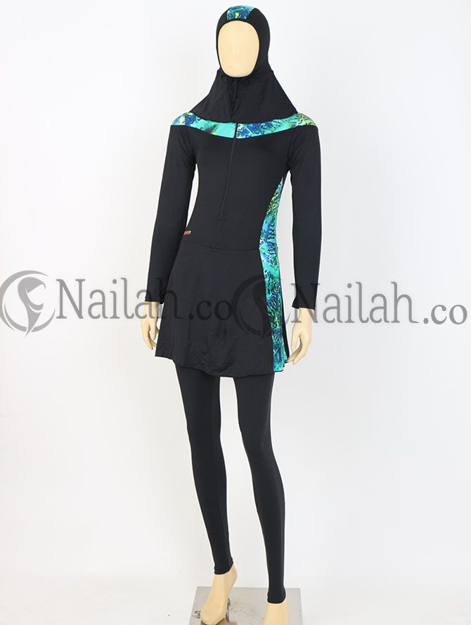 Baju renang Muslimah jenny Harga Rp 189.000,- yang terbuat dari bahan DOve yang dikombinasikan dengan Motif cantik warna hijau. Tersedia Ukuran : M, L, XL,XXL