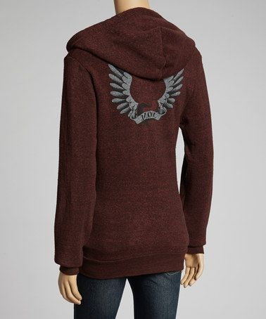 Take a look at this Cherry Winged Heart Maternity Zip-Up Hoodie by Hot Mama Ink on #zulily today!