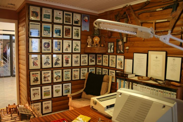 The exhibition of writer Kalle Päätalo in the Päätalo-Center in Taivalkoski, Lapland, Finland