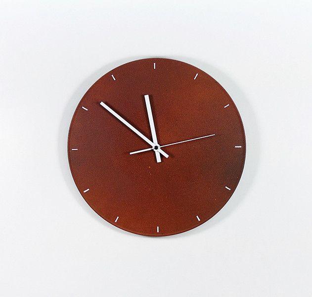 Uhren - Schallplattenuhr Rust and White - ein Designerstück von Zauberholz-Berlin bei DaWanda