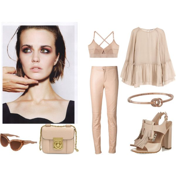 """""""One color only: Powder pink"""" by ralucadu on Polyvore"""