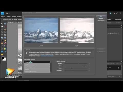 Photoshop Elements 9 : La conversion en noir et blanc