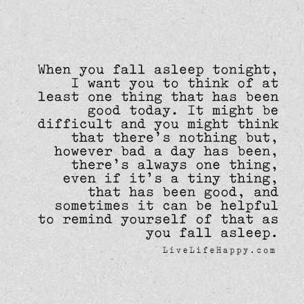 When You Fall Asleep Tonight