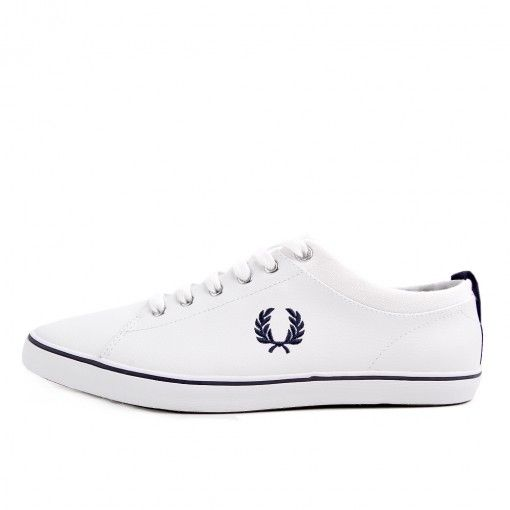 Fred Perry Hallam Leather White Blue #latestpickup #lpu #sneakers