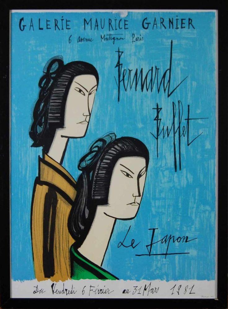 BUFFET Bernard JAPONAISES Lithographie 70x50 cm Affiche lithographique sur le thème du Japon. Diamonds Auction Richard Bédot - 18/10/2015